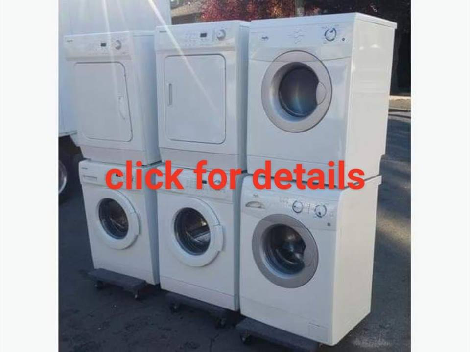 apartment sized stackable or side by side front load washer dryer